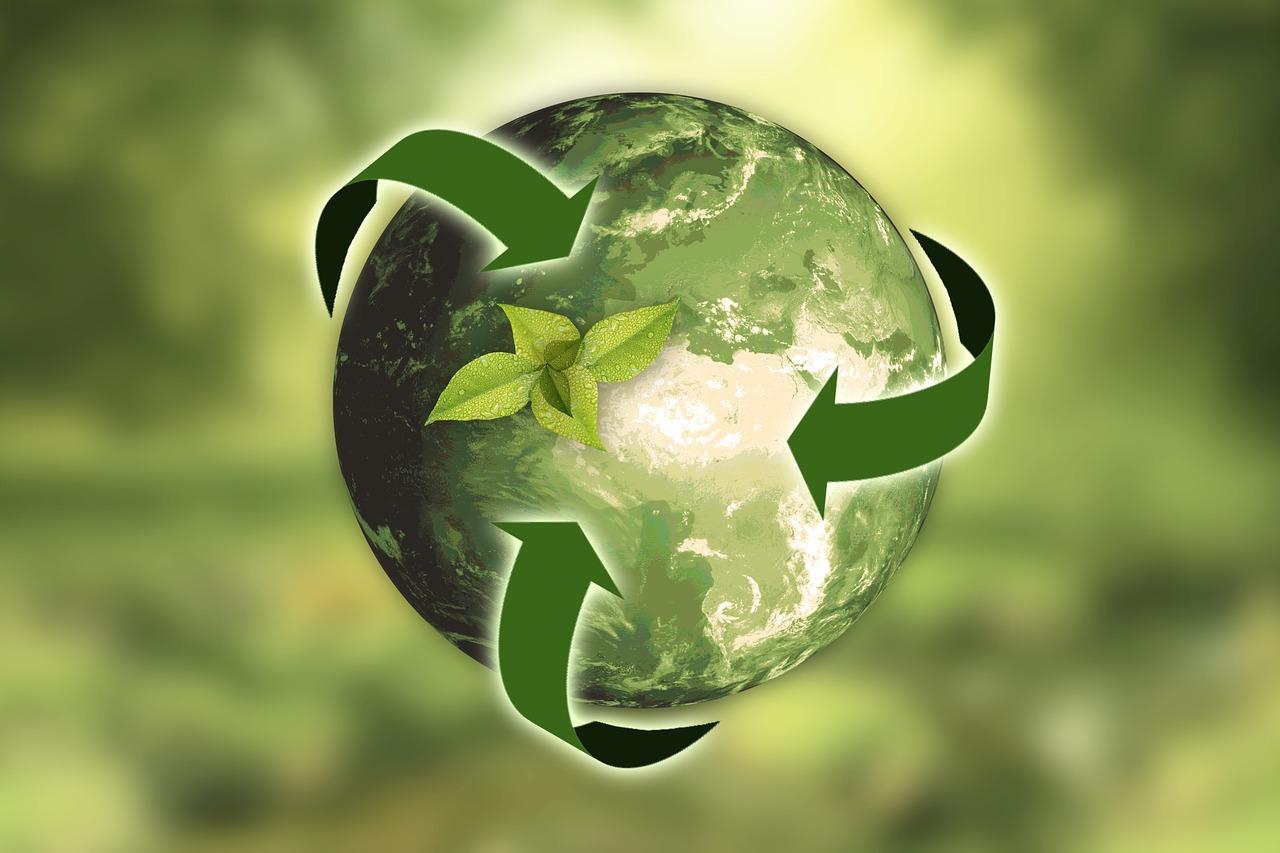 Rappresenta un immagine simbolica indicante il riciclo di energia